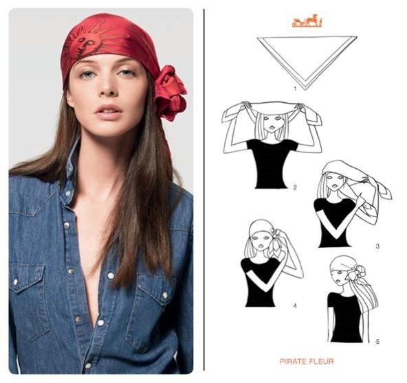Как завязать платок на голове Фото пошаговое руководство