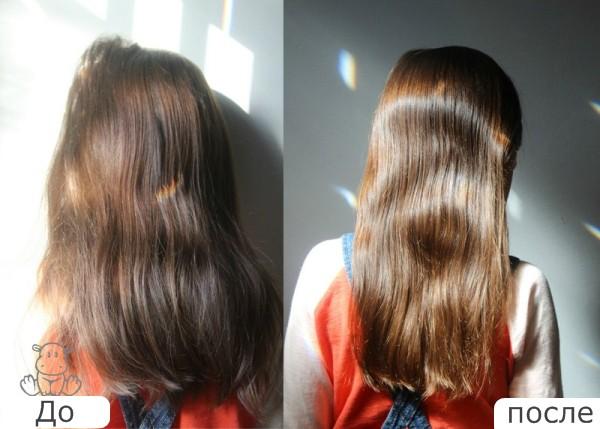 Желатиновая маска для выпрямления волос