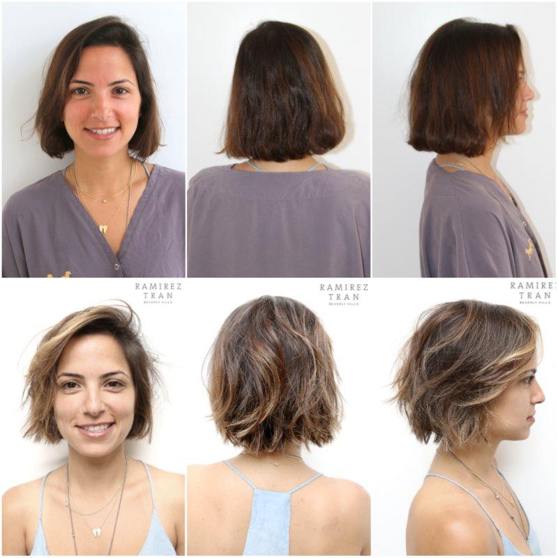 Калифорнийское мелирование на короткие волосы Фото