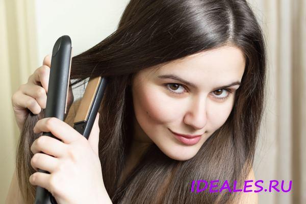 Как быстро выпрямить волосы утюжком