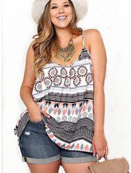 Красивые блузки для полных женщин + Фото