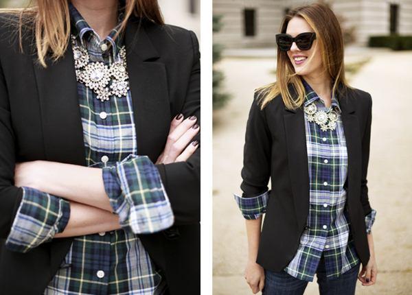 Заметки модницы: С чем одеть клетчатую рубашку, Секреты красоты и здоровья женщины