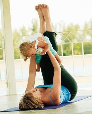 Фитнес для кормящих мам, чтобы похудеть