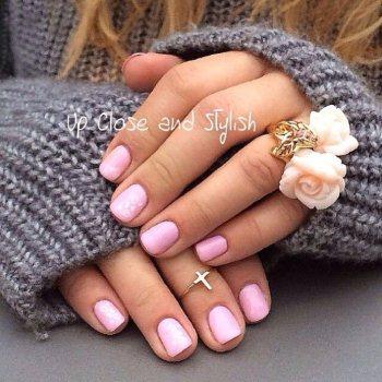 Красивый маникюр на короткие ногти шеллаком, фото