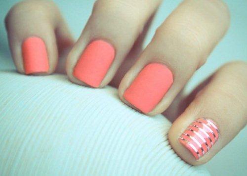 Гель лак на очень коротких ногтях + Фото