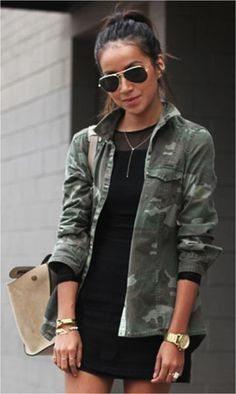 Стиль милитари: одежда для женщин (ФОТО)