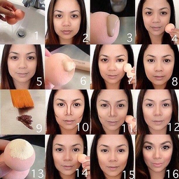 Контурирование лица пошаговая инструкция.
