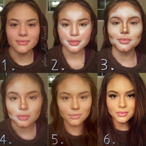 Контурирование лица пошаговая инструкция. Видео и Фото
