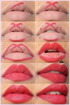 Как красиво накрасить губы карандашом. Как сделать губы красивыми