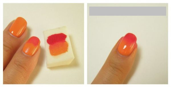 Градиент на ногтях гель лаком: видеоурок + фото