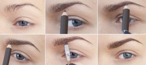 как красить брови карандашом пошаговая инструкция фото - фото 9