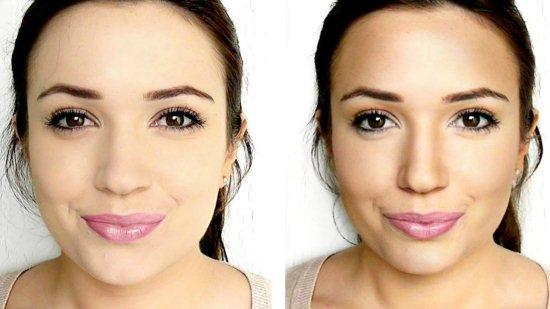 Контурирование лица. Фото до и после.