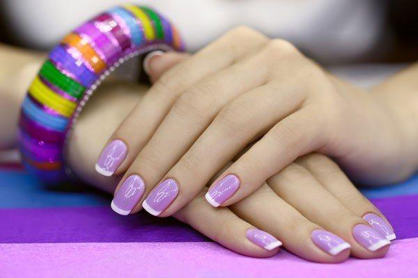 Маникюр шеллак на лето на короткие ногти