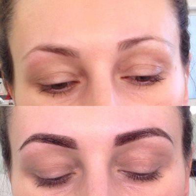 Окраска бровей хной: фото до и после