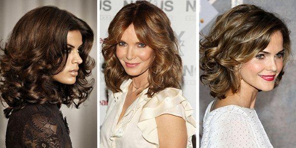 Стрижка на вьющиеся волосы средней длины + Фото