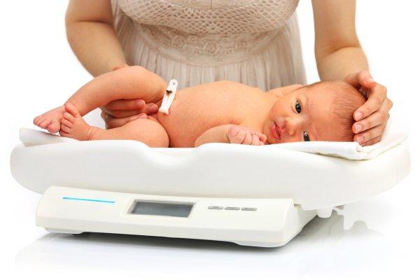 Нормы набора веса грудничков. Таблица