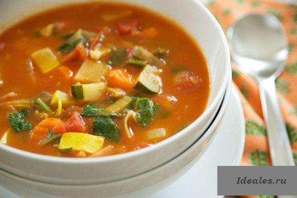 Овощные супы. Рецепты диетические, стол № 5