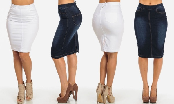 Джинсовые юбки с пуговицами впереди – стильный образ