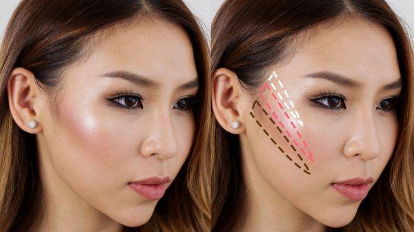 Как сделать скулы на лице — макияж пошагово