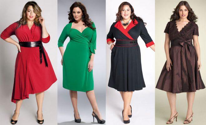Модные платья оптом для полных девушек