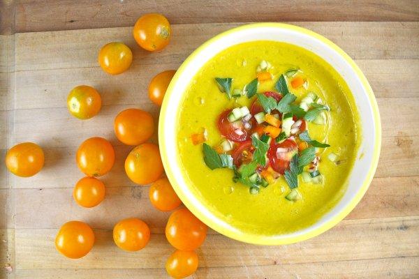 Невероятно вкусный суп из помидоров Гаспачо. Рецепт