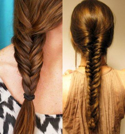 Плетение волос на длинные волосы пошагово