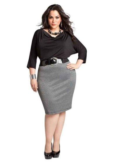 Стильная одежда больших размеров для девушек