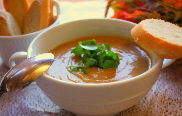 Постный тыквенный суп пюре классический рецепт