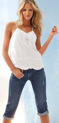 Удлиненные шорты женские джинсовые