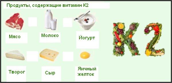 Витамин к2: в каких продуктах содержится