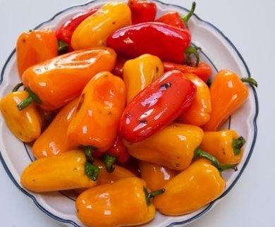 Болгарский перец, маринованный в масле с чесноком