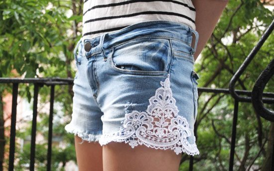 Как из джинсовой юбки сделать шорты