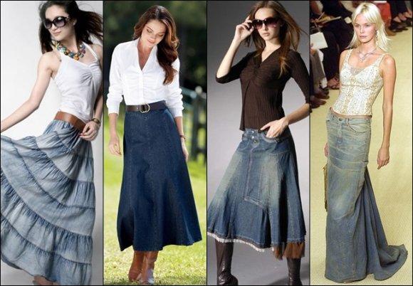 Луки с джинсовой юбкой. Стильные образы