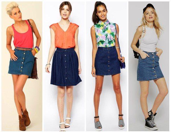 С чем одеть джинсовую юбку