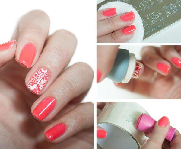 Ногти сделанные стемпингом фото