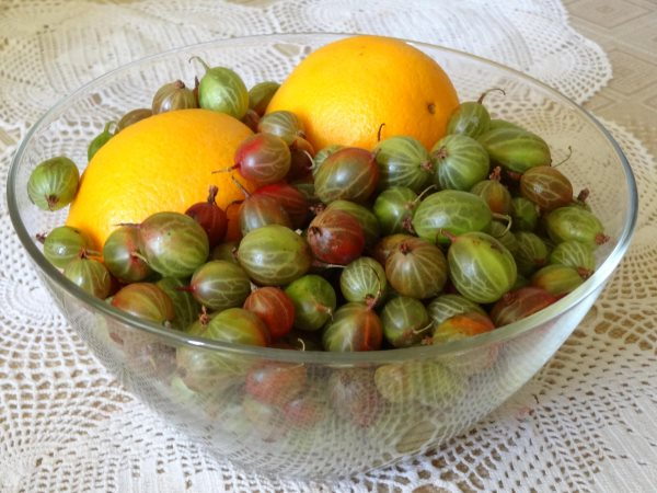 Варенье из крыжовника - рецепты: пятиминутка с лимоном