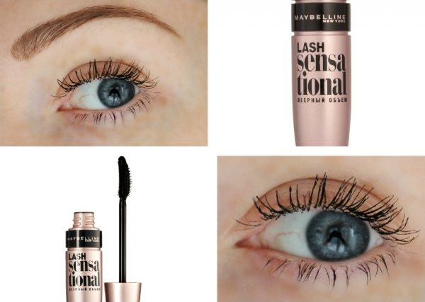 Тушь Maybelline: Lash Sensational на ресницах.