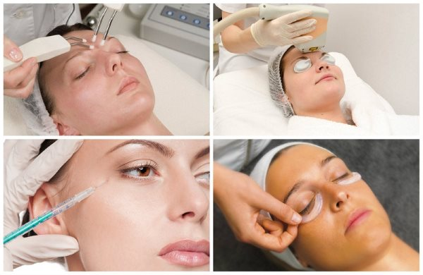 Косметические салонные процедуры по устранению темных кругов под глазами.