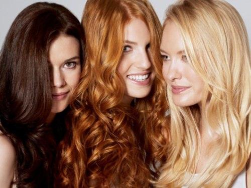 Брюнетка, рыжеволосая девушка, блондинка