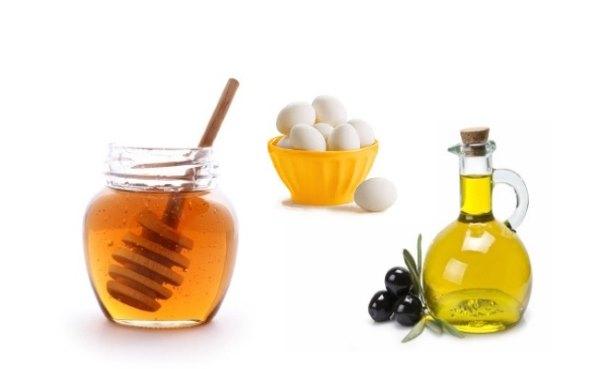 Мед, яйца, оливковое мало