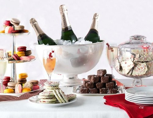 Шампанское и десерт