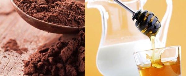 Какао, мед, молоко