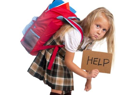 Девочка с рюкзаком