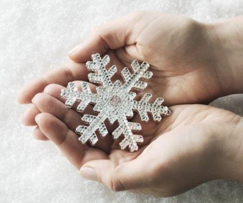 Руки, снежинка