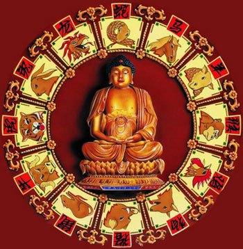 будда и 12 животных