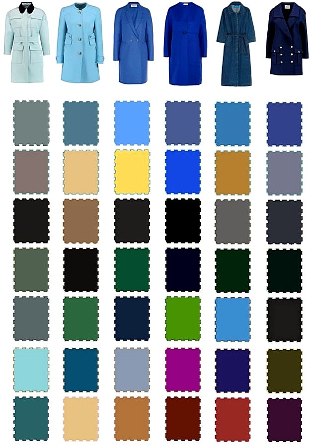 Модная цветовая палтира