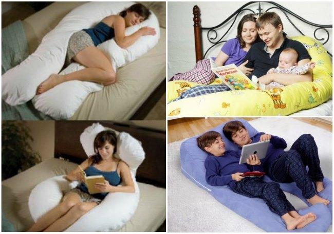 семья на подушке для беременных