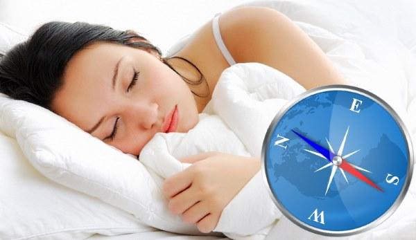 На какую сторону света правильно спать головой для здорового сна