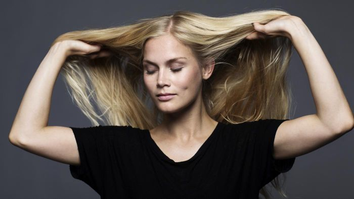 женщина, волосы
