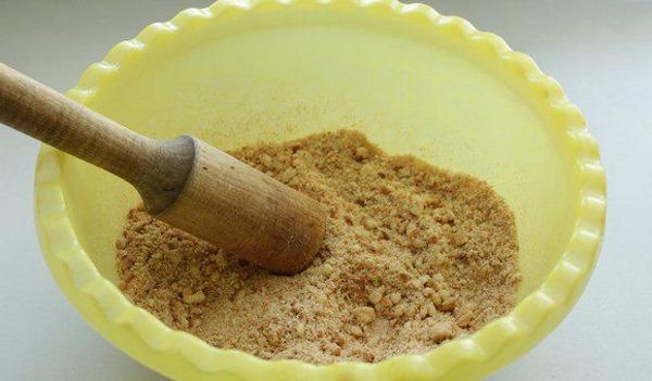 раскрошить печенье